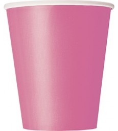 14 HOT PINK 9 OZ. CUPS