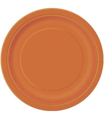 20 PUMPKIN ORANGE 7'' PLATES
