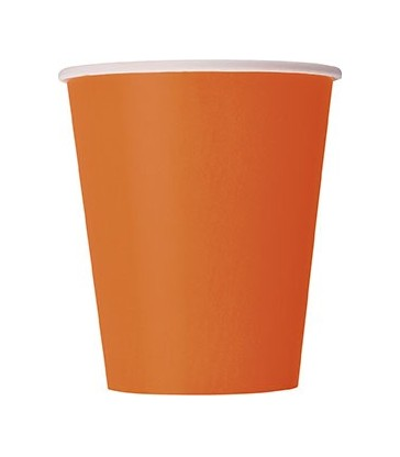 14 PUMPKIN ORANGE 9 OZ. CUPS