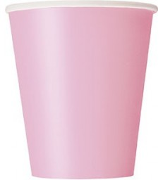 14 LOVELY PINK 9OZ CUPS