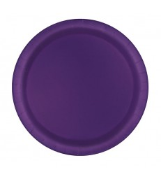 "16 DEEP PURPLE 9"" PLATES"