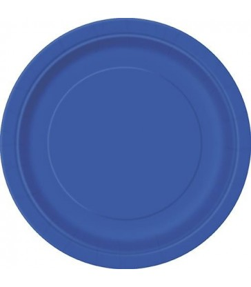 20 ROYAL BLUE 7'' PLATES