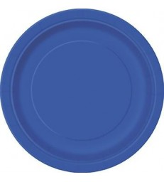 "16 ROYAL BLUE 9"" PLATES"