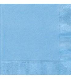 20 POWDER BLUE LUNCH NAPKINS