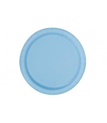 "20 POWDER BLUE 7"" PLATES"
