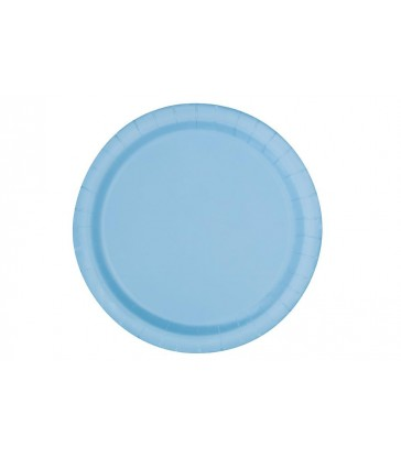 "16 POWDER BLUE 9"" PLATES"