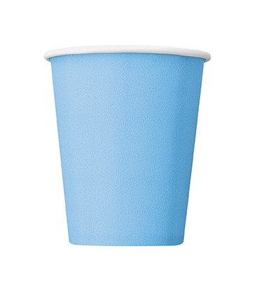 14 POWDER BLUE 9OZ CUPS