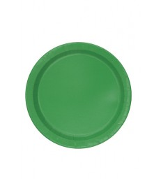 "20 EMERALD GREEN 7"" PLATES"