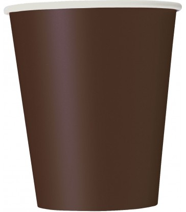 14 BROWN 9OZ CUPS