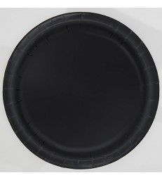 "16 MIDNIGHT BLACK 9"" PLATES"