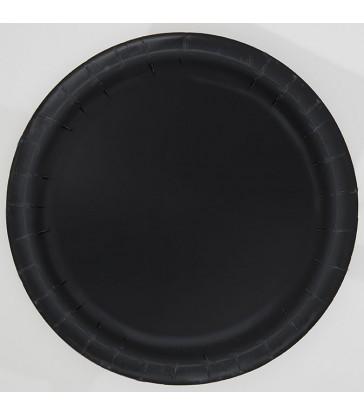 "16 MIDNIGHT BLACK 9"" PLATES"