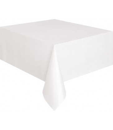 WHITE BASIC TABLECOVER 54X108