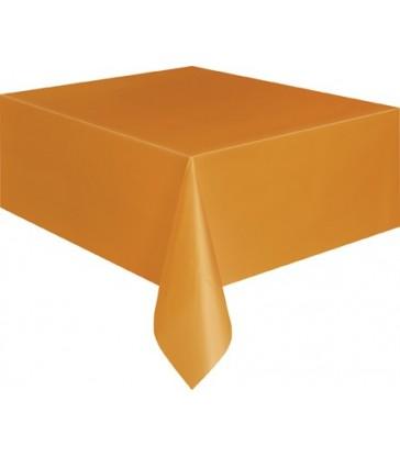 PUMPKIN ORANGE TABLECOVER 54X108