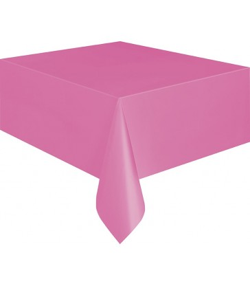 HOT PINK TABLECOVER 54X108
