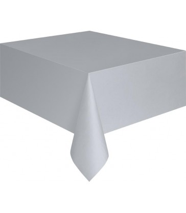 SILVER TABLECOVER 54X108