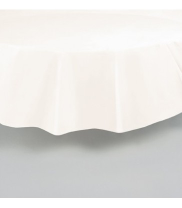 IVORY ROUND TABLECOVER 84 DIA