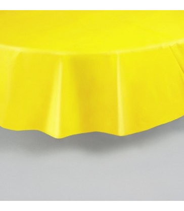 SUNFLOWER YELLOW ROUND TABLECOVER 84 DIA