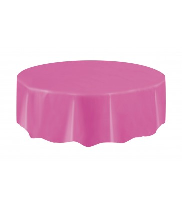HOT PINK ROUND TABLECOVER 84 DIA