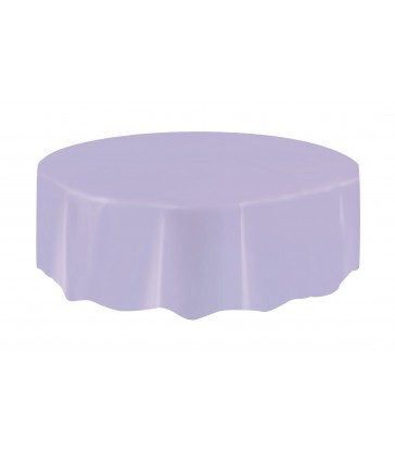 LAVENDER ROUND TABLECOVER 84 DIA