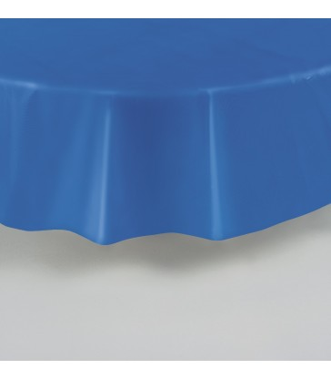 ROYAL BLUE ROUND TABLECOVER 84 DIA