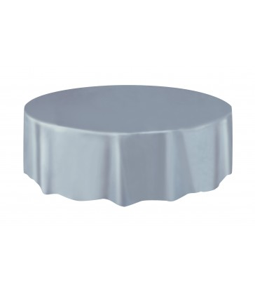 SILVER ROUND TABELCOVER 84 DIA