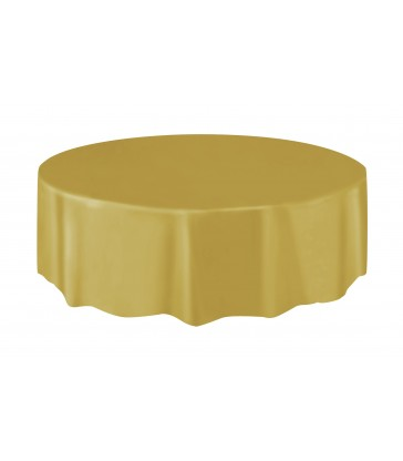 GOLD ROUND TABLECOVER 84 DIA