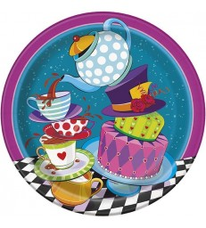 "8 MAD TEA PARTY 9"" PLATES"