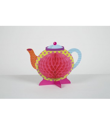 "MAD TEA PARTY HONEYCOMB CENTREPIECE-10""H"