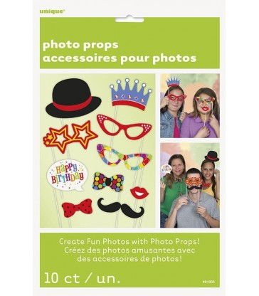 10 CONFETTI BIRTHDAY PHOTO PROPS