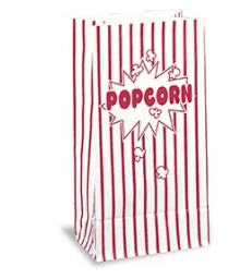 10 PAPER PARTY BAGS-POPCORN