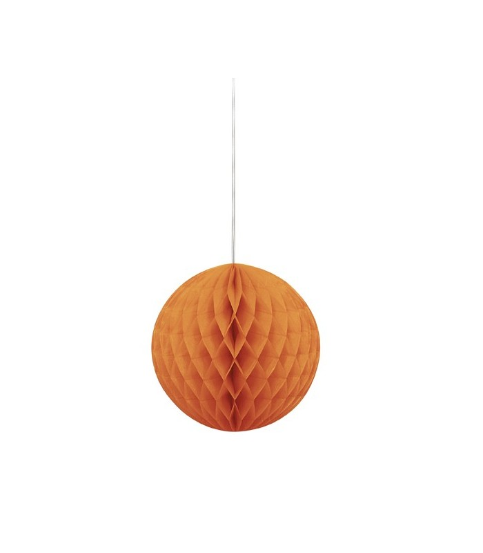 "HONEYCOMB BALL 8"" PUMPKIN ORANGE"