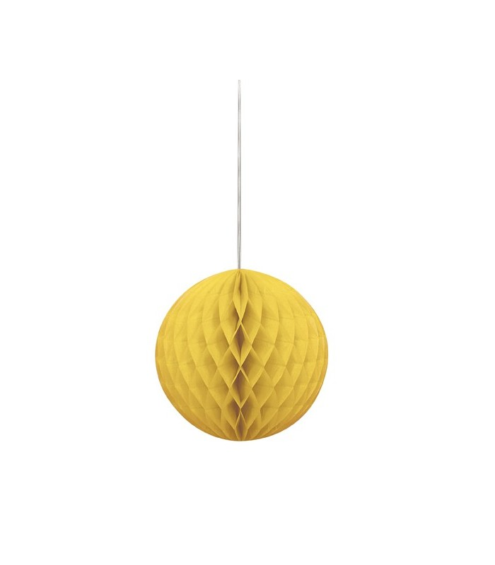 "HONEYCOMB BALL 8"" SUNFLOWER YELLOW"