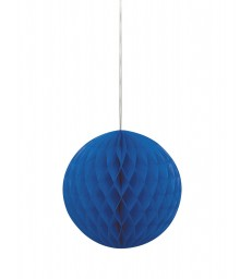 "HONEYCOMB BALL 8"" ROYAL BLUE"