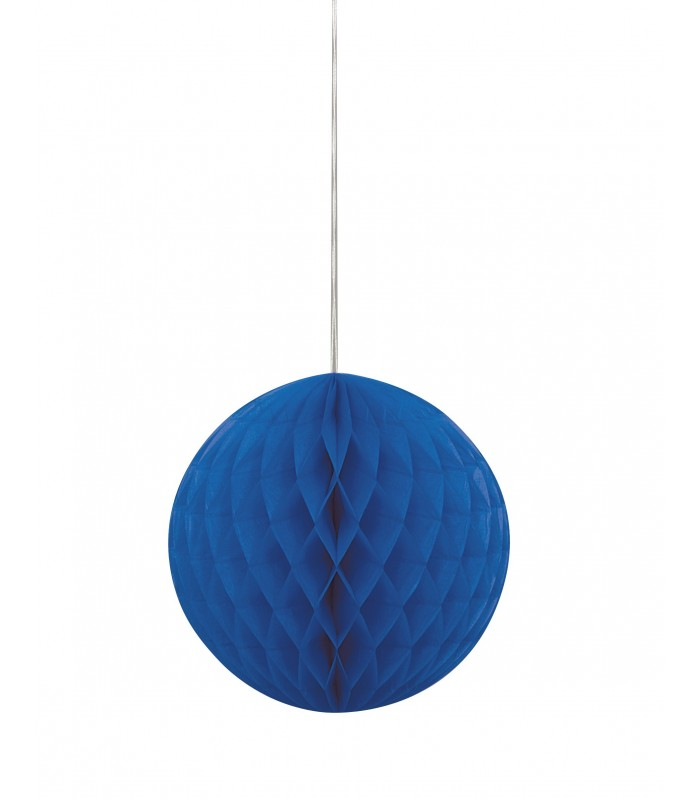 "HONEYCOMB BALL 8"" ROYAL BLUE"