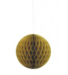 "HONEYCOMB BALL 8"" GOLD"