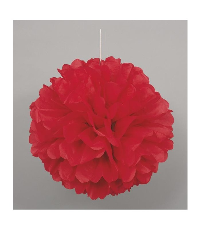 "PUFF DECOR 16"" RED"