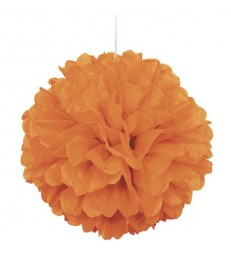 "PUFF DECOR 16"" PUMPKIN ORANGE"