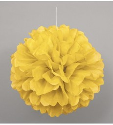 "PUFF DECOR 16"" SUNFLOWER YELLOW"