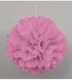 "PUFF DECOR 16"" HOT PINK"