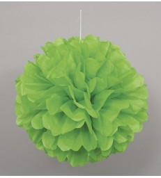 "PUFF DECOR 16"" LIME GREEN"