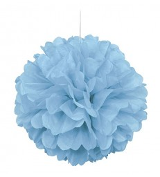 "PUFF DECOR 16"" POWDER BLUE"