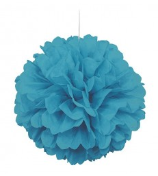 "PUFF DECOR 16"" CARIBBEAN TEAL"