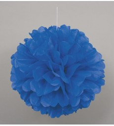 "PUFF DECOR 16"" ROYAL BLUE"