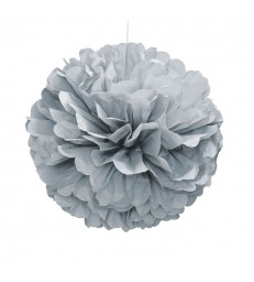 "PUFF DECOR 16"" SILVER"