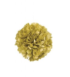 "PUFF DECOR 16"" GOLD"