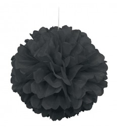 "PUFF DECOR 16"" BLACK"