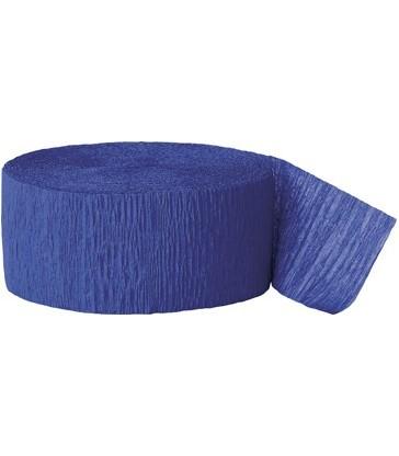 81FT ROYAL BLUE CREPE STREAMER