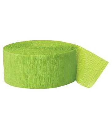 81FT LIME GREEN CREPE STREAMER