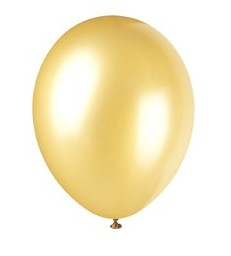 8 12'' PRL GOLD CHAMPAGNE BALLOONS