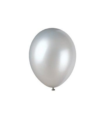 "50 12"" SHIMMERNG SILVER PEARLISED BALLOONS"